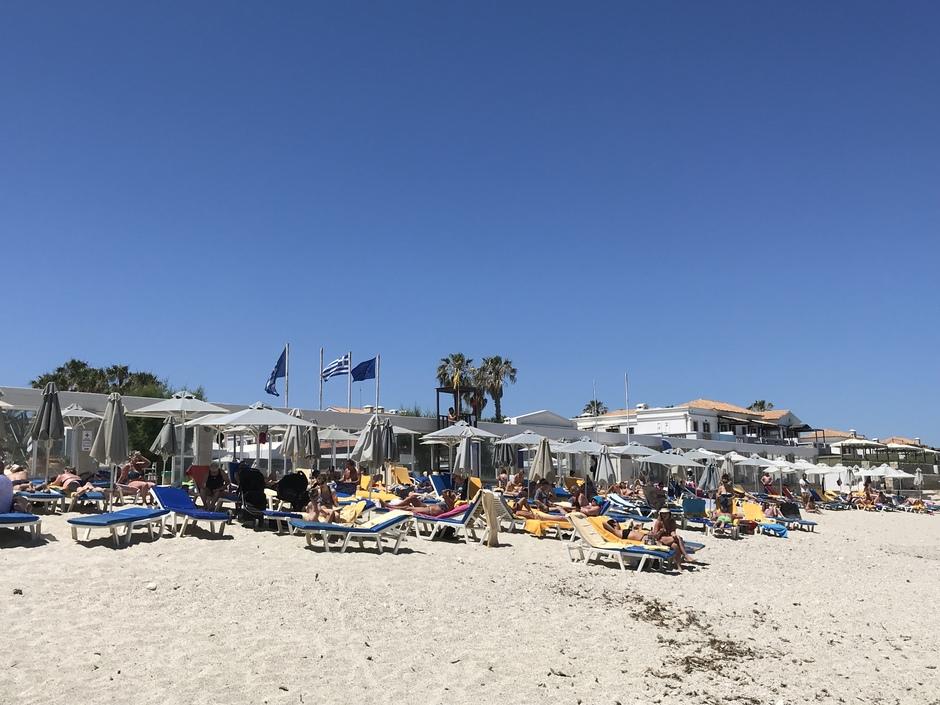 Zonnig Aan zee kreta  Griekenland