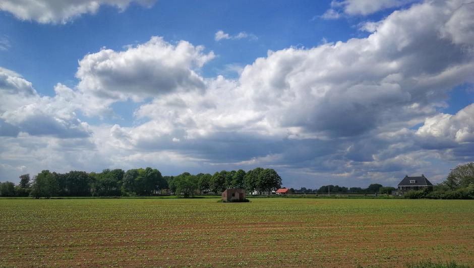 Mooie dag met wat (stapel)wolken