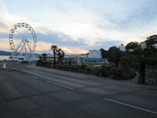 Exmouth Pavilion and Observation Wheel after dusk.