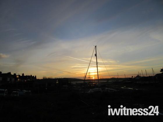 Sunset over Exmouth Estuary