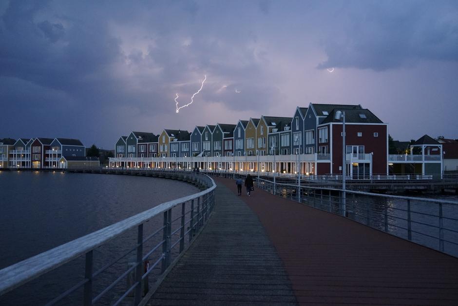 Onweer boven Houten