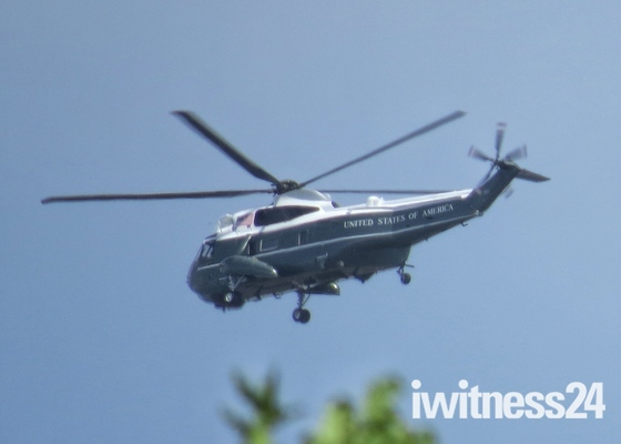 Trump flies over Hornchurch
