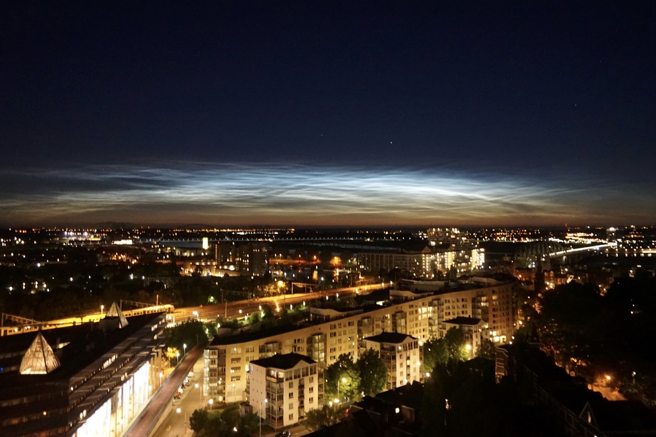 Weerfoto Nijmegen nacht 13 juni