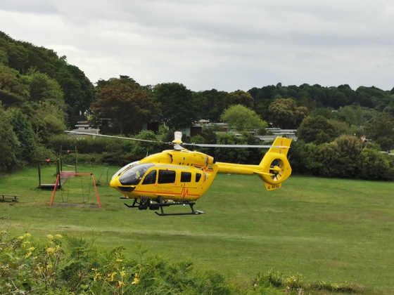 Air ambulance at Cromer