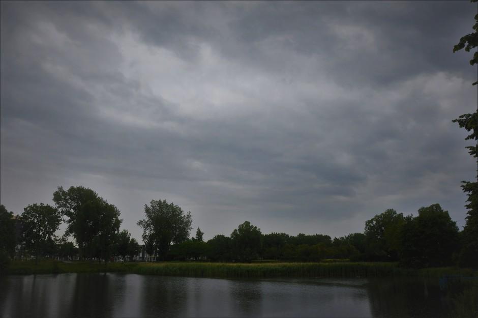 Zwaar Bewolkt Met Regen
