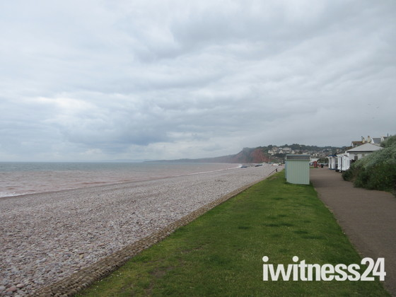 Budleigh Salterton on a cloudy Monday 17th June 2019