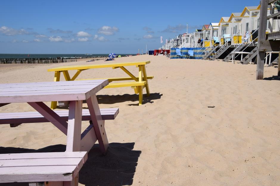 Strand nog aardig leeg.