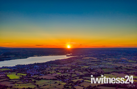 The Sun setting over the River Exe this Summer Solstice 2019