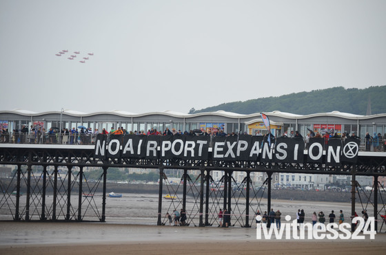 Protest at Weston air Festival
