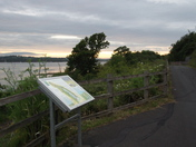 Exe Estuary at dusk, along the cycle track.