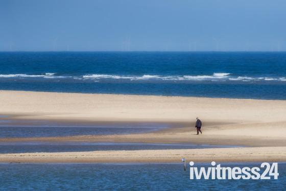 Alone on the beach