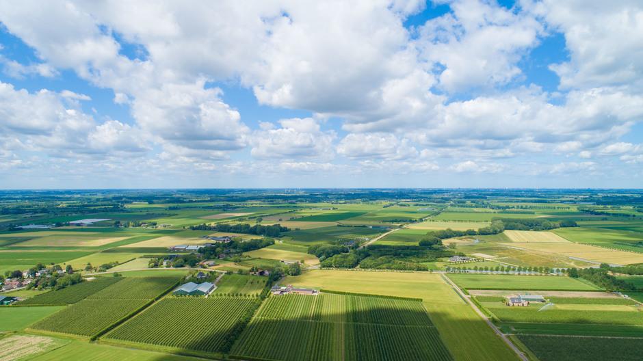 Denkend aan Holland om 13.00 uur (drone), de gele plekken zijn weer zichtbaar