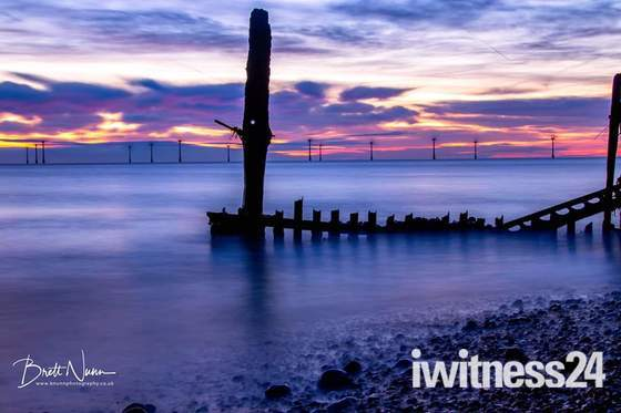 Caister beach sunrise