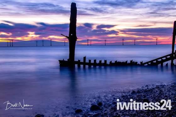 Caister beach sunrise