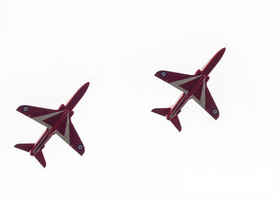 Red arrows fly past 6.7.19