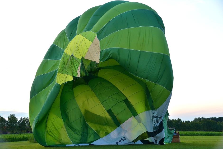 Ballon loopt leeg