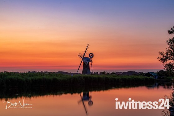 Sunset on the River Thurne