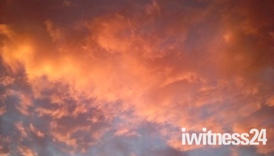 Sunset over Higher Woolbrook Park.