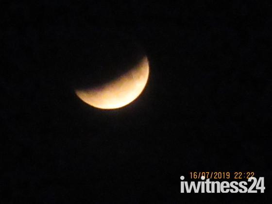 A partial lunar eclipse