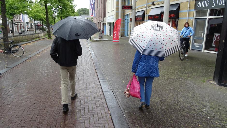 Buiig weer vandaag de paraplu is wel nodig