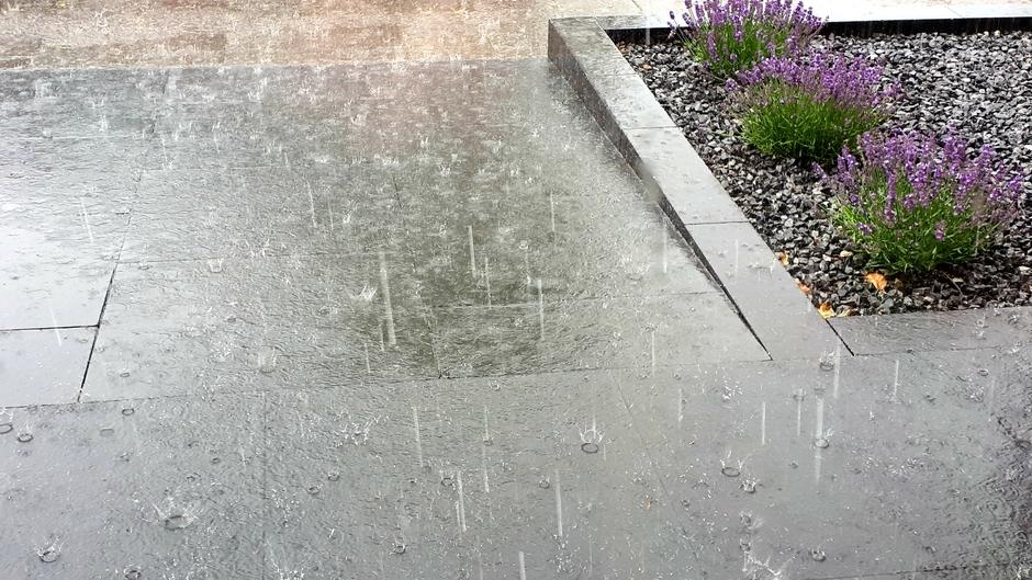 Flinke regenbui en gerommel.