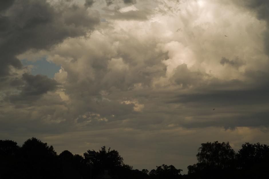 Een donkere hemel.......