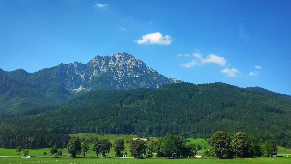 Bijna strakblauw in de Alpen