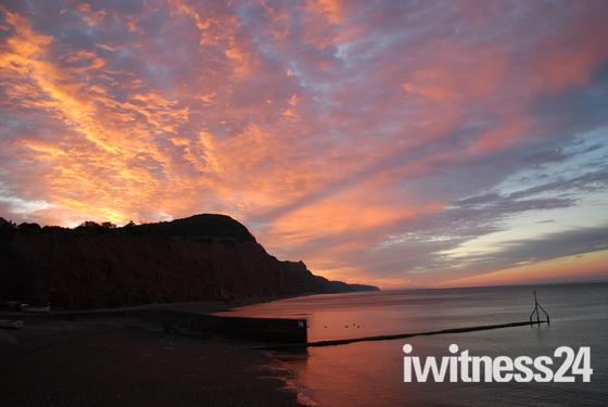 Sunrise Sidmouth Beach