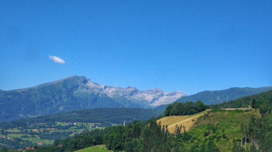 Jippie één wolkje boven de Alpen