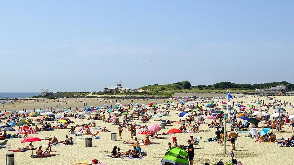 zon strand topdrukte