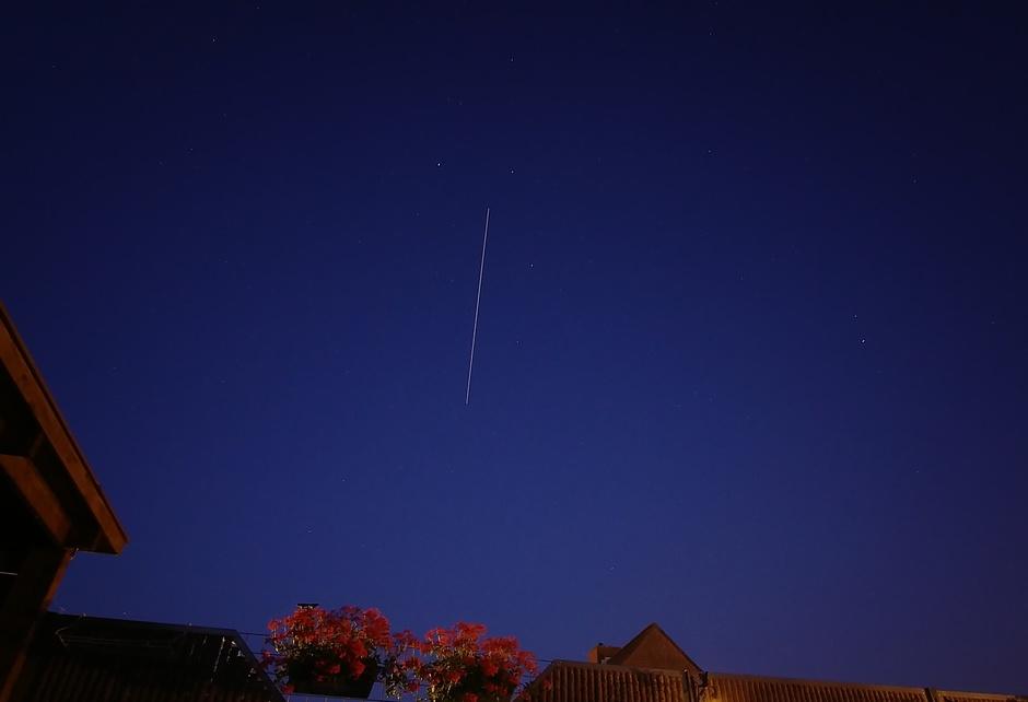 Helder weer om de ISS sateliet over zien gaan