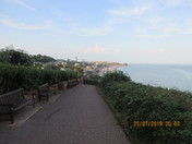 A sunny evening at Budleigh Salterton
