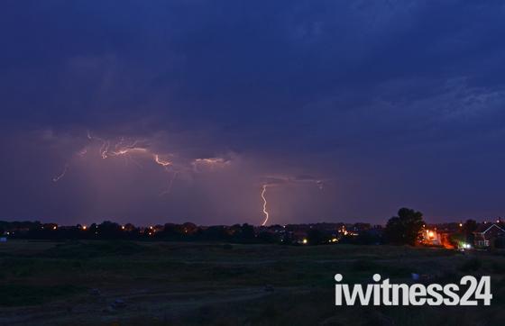 lightning over caister