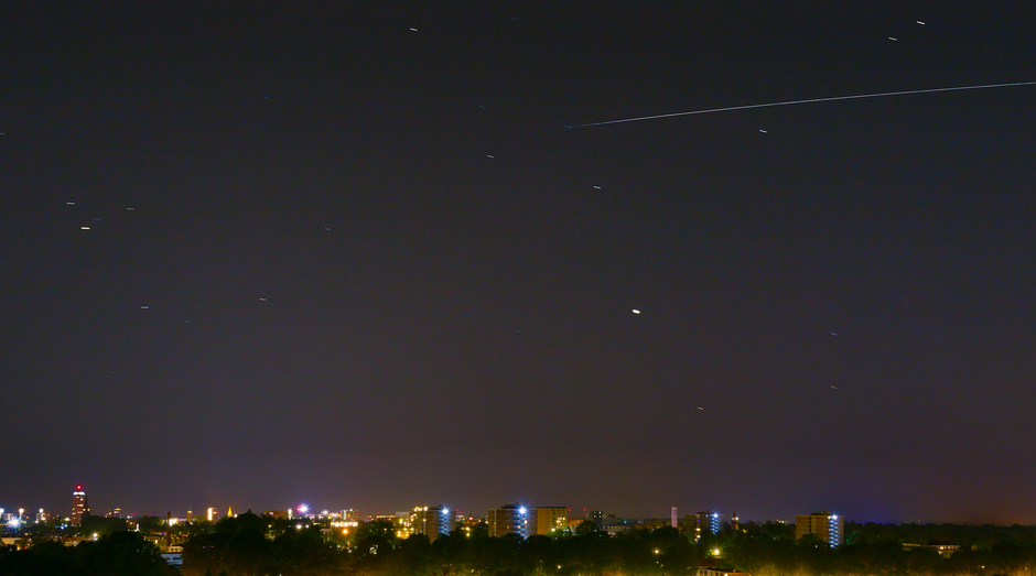 ISS boven Enschede