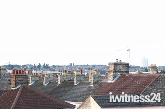 Kirkley Roof top view overlooking Lowestoft.