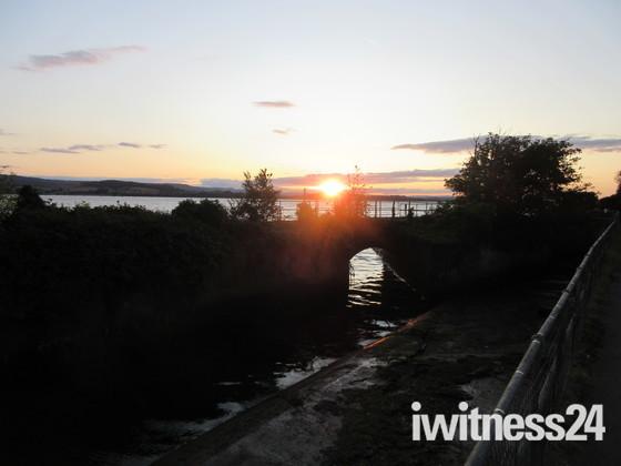 The 'orange' sunset