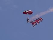 The Red Devils (Parachute Regiment) display at Lyme Regis RNLI week