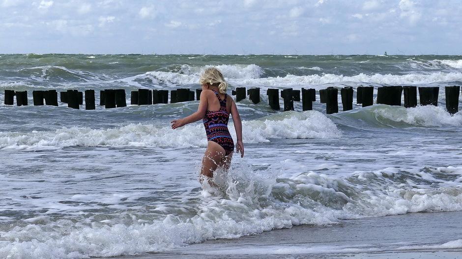 woelige golven voor zeeduik