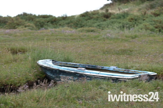 Boats in The Marshes between Wells Next the Sea and Stiffkey