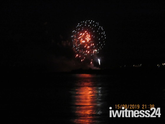 Dawlish Warren Fireworks seen from Exmouth.