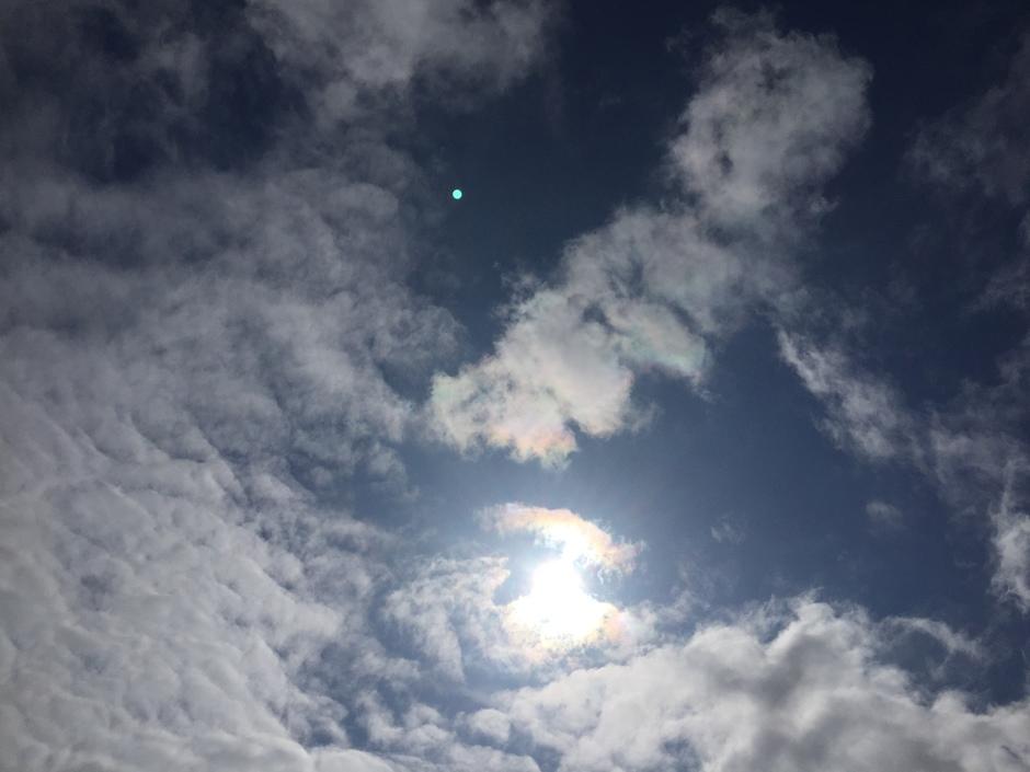 Zon en bewolking
