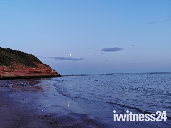 Moonlit tranquility at Orcombe Point