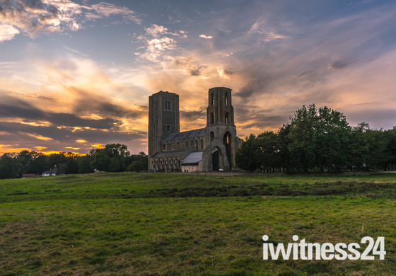 Sunset over Wymondham Abbey