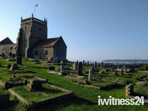 Uphill hillside church
