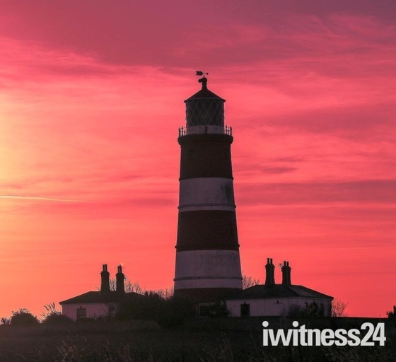 Happisburgh lighthouse at sunset