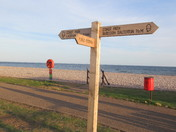 SW Coast path sign in Budleigh Salterton