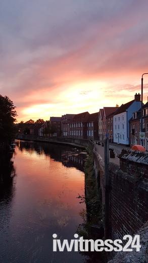 Beautiful sky early morning in Norwich