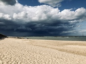 Jet skiing before the storm clouds at Sea Palling