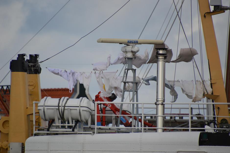wasdag op de boot