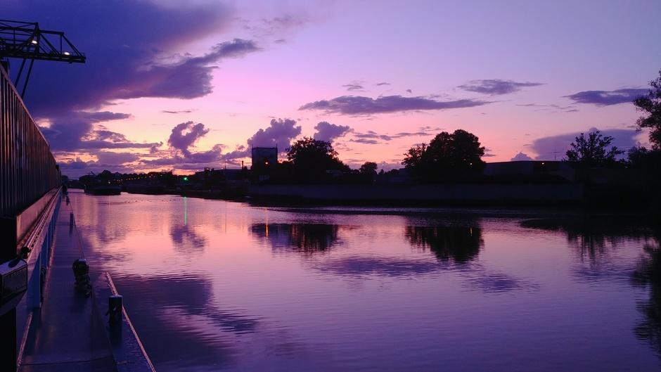 Kleurijke zonsondergang